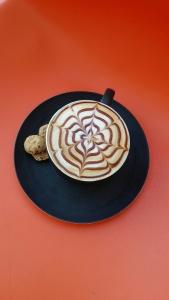 Colombian coffee latte art